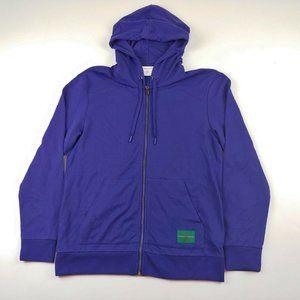 Calvin Klein Men's Full Zip Jacket Hooded Blue